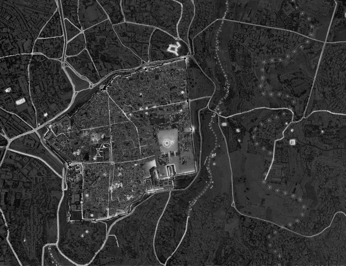 plan lumière ville de Jérusalem