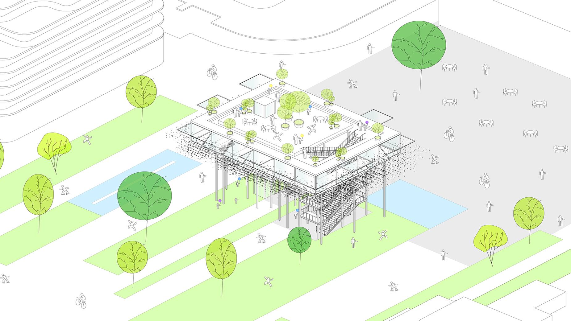 infographie Parc de l'Arsenal, Rueil Malmaison