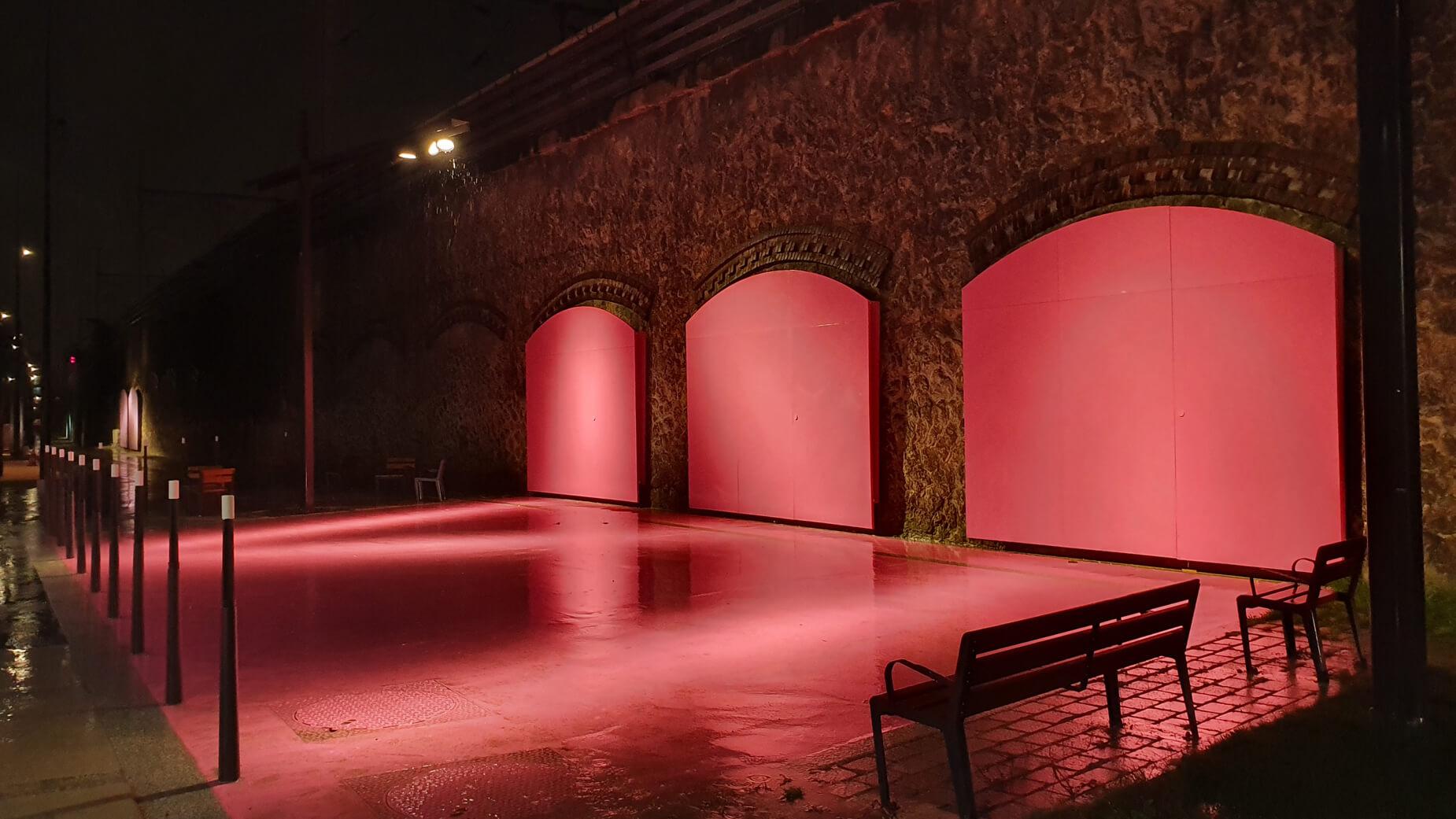 Paris, jardin Cesaria Evora couleur de nuit
