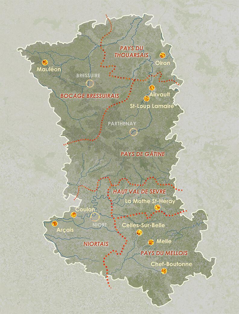 carte des Deux-Sèvres