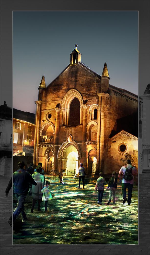 infographie éclairage d'église